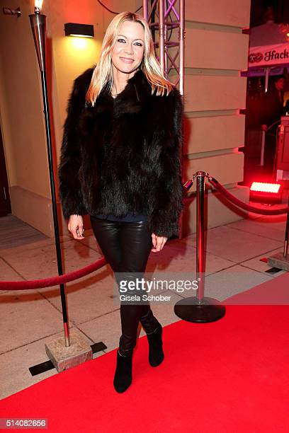 Verena Klein during the premiere of the musical 'Chicago' at Deutsches Theatre on March 6 2016 in Munich Germany