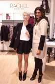 Verena Lederer and designer Rachel Roy attend the Rachel Roy collection presentation at Karstadt on November 21 2013 in Hamburg Germany