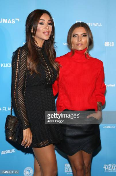 Verena Pooth and Sophia Thomalla attend the opening of the exhibition 'Gabo Fame' at HumboldBox on September 9 2017 in Berlin Germany