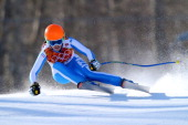 Verena Stuffer of Italy skis during the Alpine Skiing Women's Downhill on day 5 of the Sochi 2014 Winter Olympics at Rosa Khutor Alpine Center on...