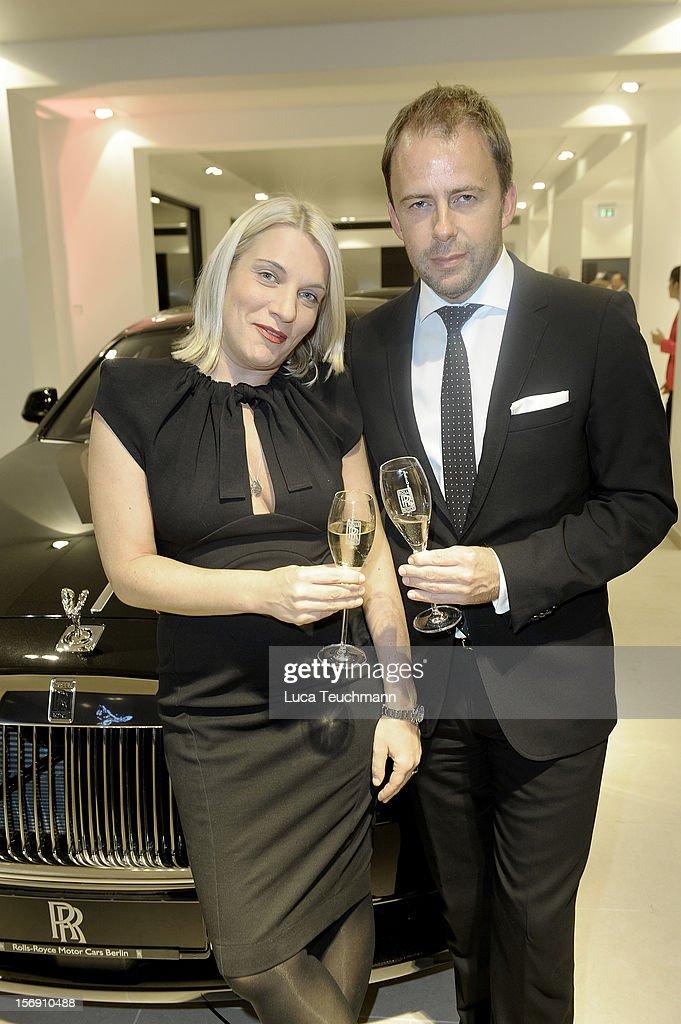 Verena Vehling and Stefan Kiwit attend the Rolls-Royce Motorcars Berlin Opening on November 24, 2012 in Berlin, Germany.
