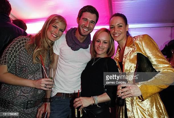 Verena Wriedt and actors Jochen Schropp Dorkas Kiefer and Nadine Brandt attend the opening of the Axel Hotel the first gay hotel to open in Germany...