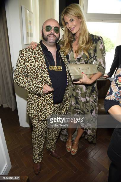 Verena Wriedt and guest attend the Klambt Fashion Cocktail in Berlin at Soho House on July 5 2017 in Berlin Germany