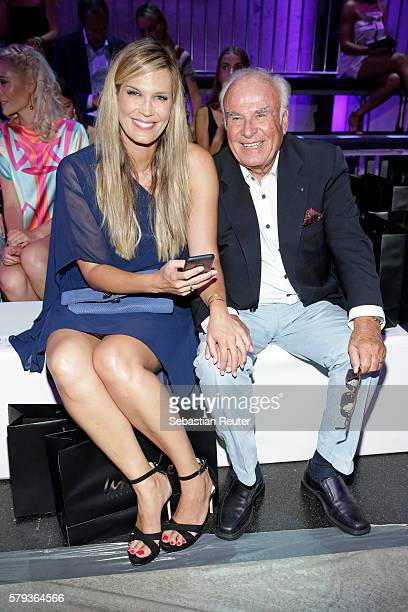 Verena Wriedt and her father attend the Unique show during Platform Fashion July 2016 at Areal Boehler on July 23 2016 in Duesseldorf Germany