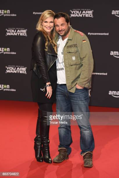Verena Wriedt and her husband Thomas Schubert attend the premiere of the Amazon series 'You are wanted' at CineStar on March 15 2017 in Berlin Germany