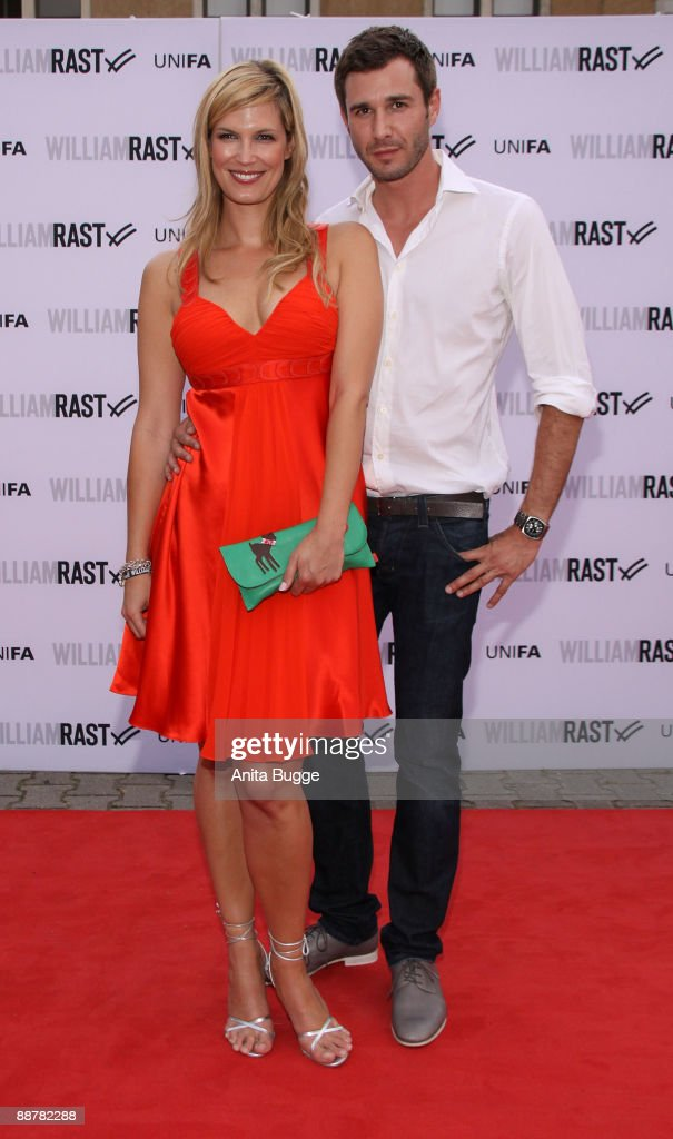 Verena Wriedt and Jochen Schropp arrive to the 'William Rast' fashion show during the Bread and Butter fashion trade fair at the Silver Wings Club on July 1, 2009 in Berlin, Germany.