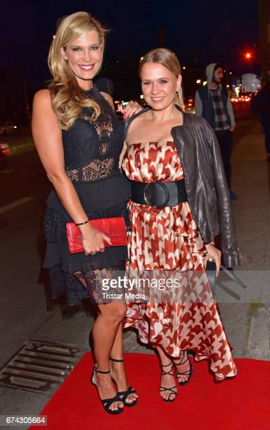 Verena Wriedt and Nova Meierhenrich attend the New Faces Award Film at Haus Ungarn on April 27 2017 in Berlin Germany