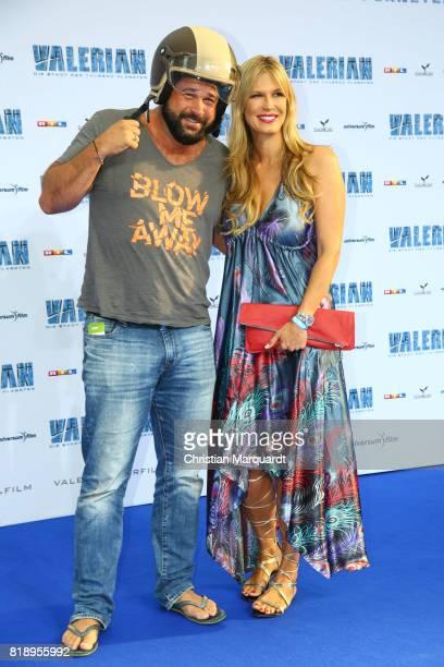 Verena Wriedt and partner Thomas Schubert attends the German premiere of 'Valerian Die Stadt der Tausend Planeten' at CineStar on July 19 2017 in...