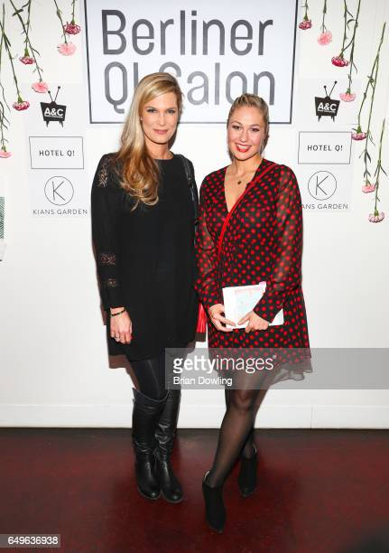Verena Wriedt and Ruth Moschner at the 'Goetterbotin unterwegs' book presentation by author Sylvia Reuber and illustrator Nil Auslaender as part of...