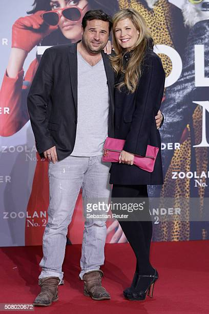 Verena Wriedt and Thomas Schubert attend the Berlin fan screening of the film 'Zoolander No 2' at CineStar on February 2 2016 in Berlin Germany