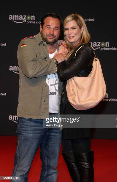 Verena Wriedt and Thomas Schubert attend the premiere of the series 'You are Wanted' at CineStar on March 15 2017 in Berlin Germany