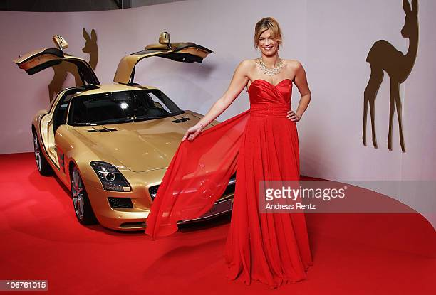 Verena Wriedt arrives for the Bambi 2010 Award at Filmpark Babelsberg on November 11 2010 in Potsdam Germany