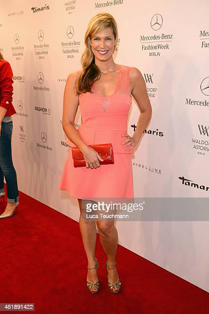 Verena Wriedt attends the Glaw show during the MercedesBenz Fashion Week Spring/Summer 2015 at Erika Hess Eisstadion on July 9 2014 in Berlin Germany