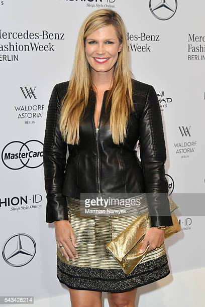 Verena Wriedt attends the Riani show during the MercedesBenz Fashion Week Berlin Spring/Summer 2017 at Erika Hess Eisstadion on June 28 2016 in...