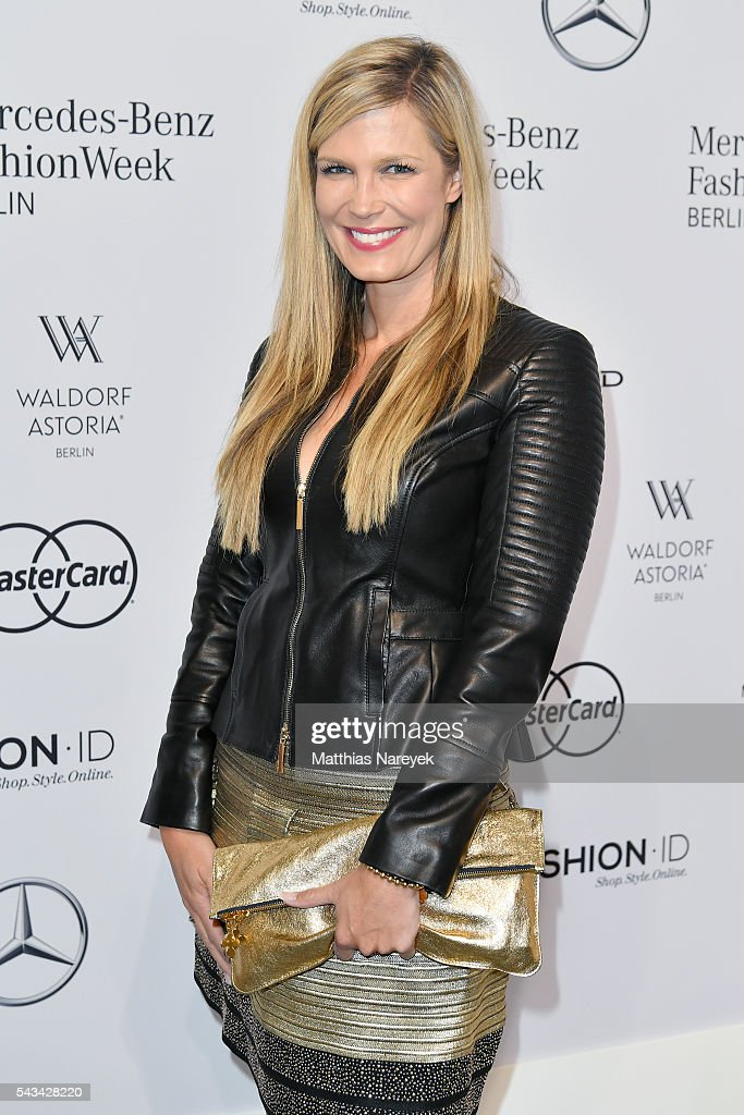 Verena Wriedt attends the Riani show during the Mercedes-Benz Fashion Week Berlin Spring/Summer 2017 at Erika Hess Eisstadion on June 28, 2016 in Berlin, Germany.