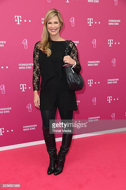 Verena Wriedt attends the Telekom Entertain TV Night at Hotel Zoo on April 28 2016 in Berlin Germany