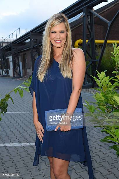 Verena Wriedt attends the Unique show during Platform Fashion July 2016 at Areal Boehler on July 23 2016 in Duesseldorf Germany