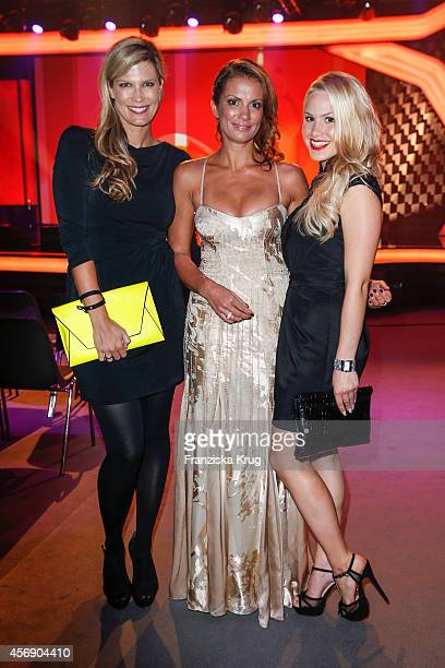 Verena Wriedt Kerstin Linnartz and Angelina Heger attend the Tribute To Bambi 2014 on September 25 2014 in Berlin Germany