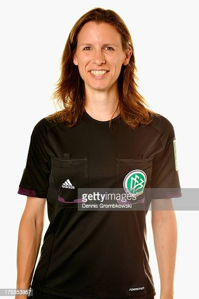 VerenaKordula Schultz poses during the Women's DFB Referee Team Presentation at DEKRA Congress Center Wart on August 2 2013 in Altensteig Germany