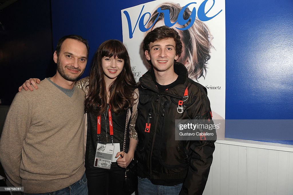 Verge founder and creative director Jeff Vespa, actress Gina Piersanti and actor Alex Shaffer attends The Verge List Party at the Samsung Gallery Launch Party To Celebrate The Verge List - 2013 on January 19, 2013 in Park City, Utah.