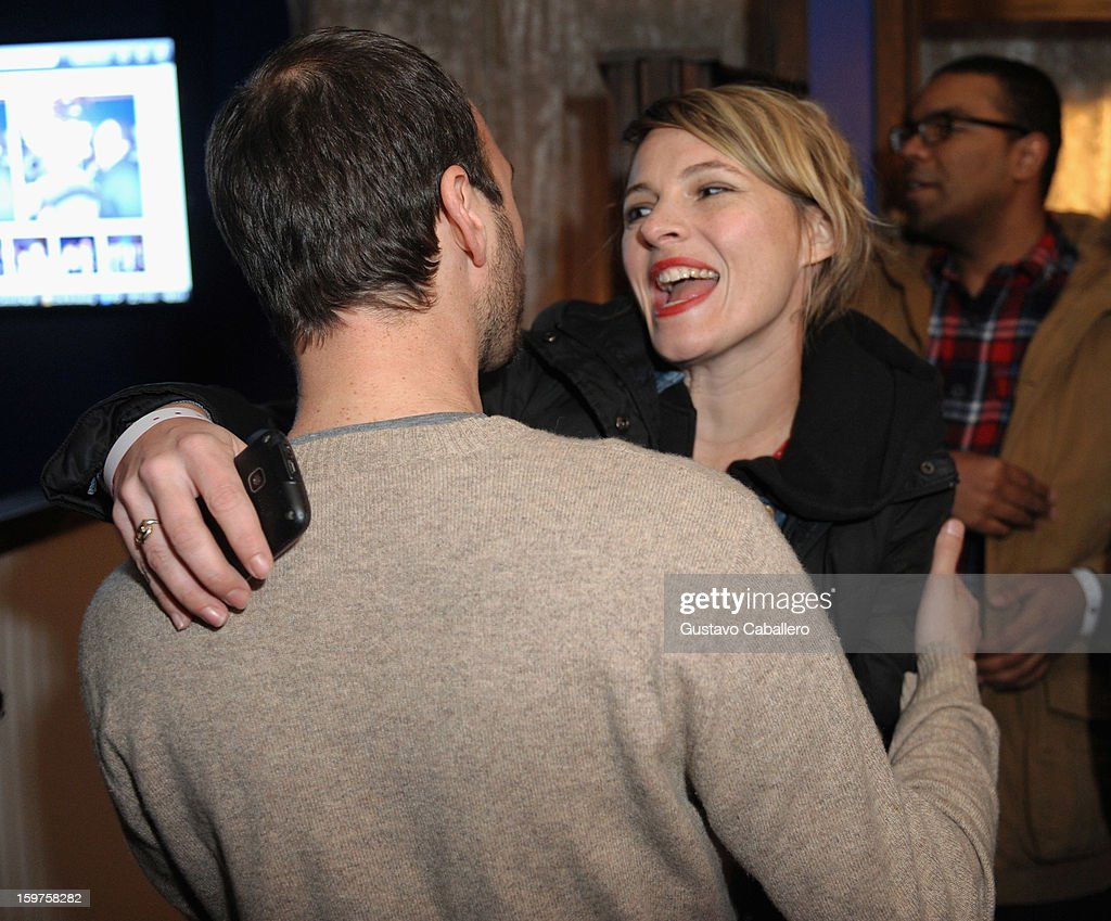 Verge founder and creative director Jeff Vespa and Amy Seimetz attends the Samsung Gallery Launch Party To Celebrate The Verge List - 2013 on January 19, 2013 in Park City, Utah.