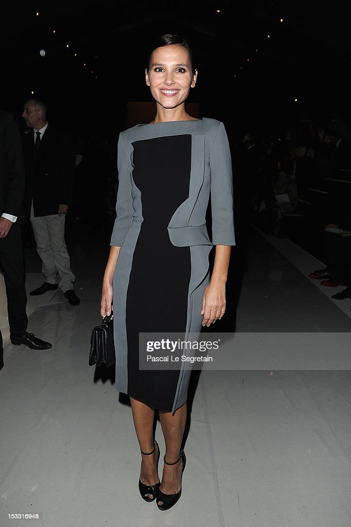 Verginie Ledoyen attends the Elie Saab Spring/Summer 2013 show as part of Paris Fashion Week at Espace Ephemere Tuileries on October 3, 2012 in Paris, France.