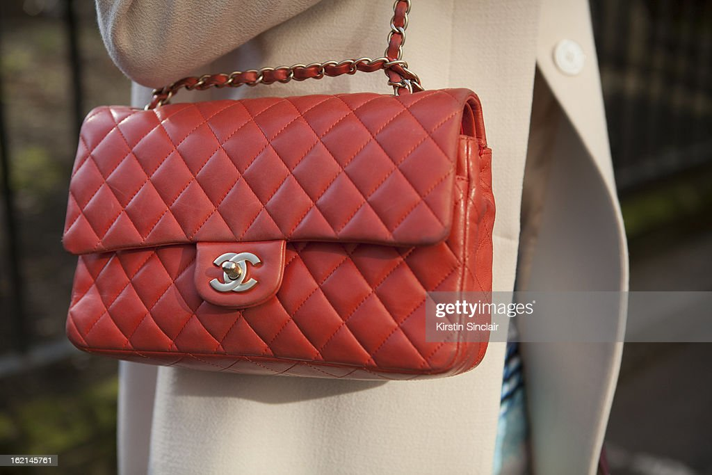 Verity Curtis fashion styles and blogger wearing chanel bag, on day 5 of London Fashion Week Autumn/Winter 2013 on February 19, 2013 in London, England.