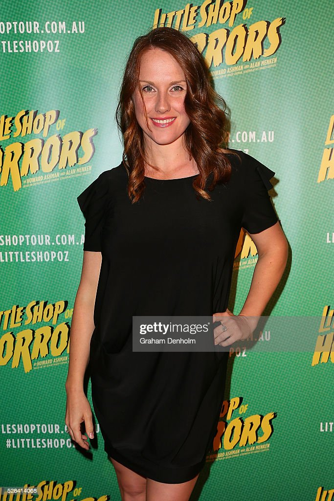 Verity Hunt-Ballard arrives ahead of the opening night for the Little Shop of Horrors at the Comedy Theatre on May 5, 2016 in Melbourne, Australia.