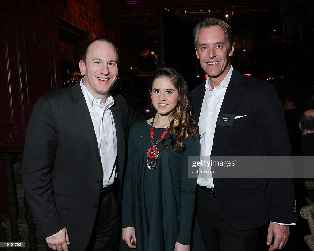 Verizon, Carly Rose Senenclar and David Kohl attend the ANA Board Dinner Presented By VEVO at The Darby on February 12, 2013 in New York City.