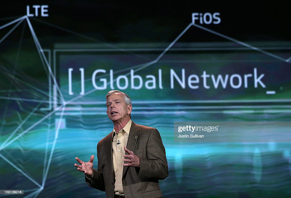 Verizon CEO Lowell McAdam speaks during a keynote address at the 2013 International CES at The Venetian on January 8, 2013 in Las Vegas, Nevada. CES, the world's largest annual consumer technology trade show, runs through January 11 and is expected to feature 3,100 exhibitors showing off their latest products and services to about 150,000 attendees.
