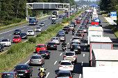 BAB A2 Verkehr Stau Typo zwischen Hannover und Lehrte Richtung Berlin