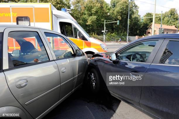 Verkehrsunfall auf einer Berliner Kreuzung