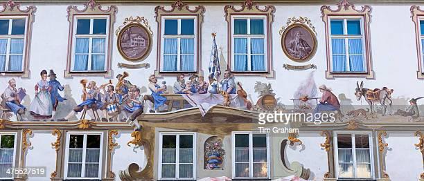 Verlagshaus in Oberammergau, Bavaria, Germany