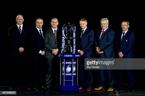 Vern Cotter the coach of Scotland Philippe Saint Andre the coach of France Stuart Lancaster the coach of England Joe Schmidt the coach of Ireland...