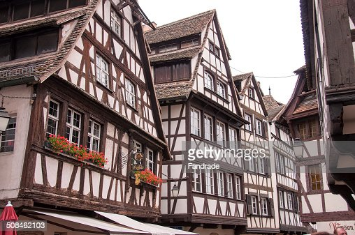 vernacular architecture strabourg france stock photo getty images. Black Bedroom Furniture Sets. Home Design Ideas
