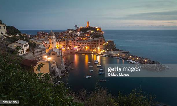Vernazza at blue hour