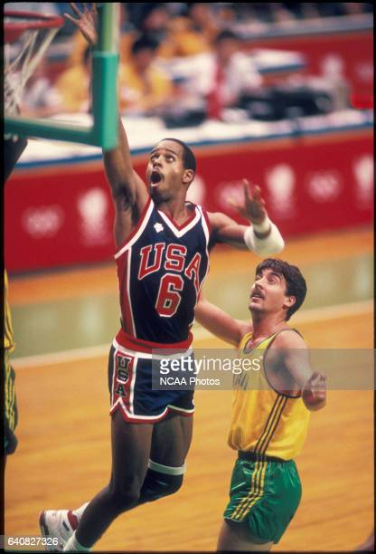 Vernell 'Bimbo' Coles of the US in action in the basketball competition during the Olympic games in Seoul South Korea The US finished 3rd for the...