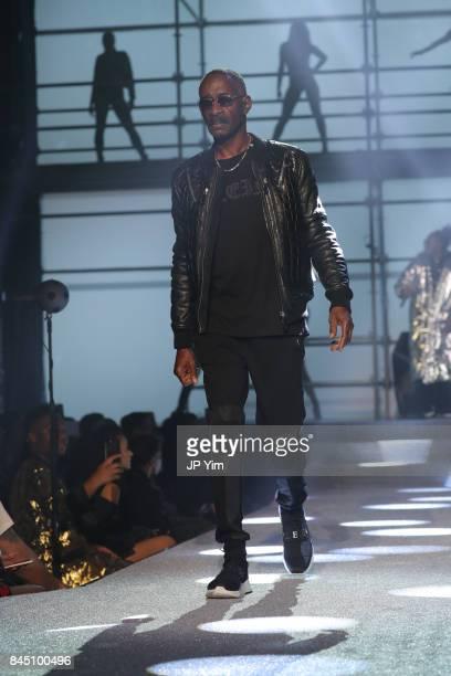 Vernell Varnado walks the runway at the Philipp Plein fashion show during New York Fashion Week The Shows at Hammerstein Ballroom on September 9 2017...