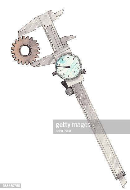 Vernier caliper illustration