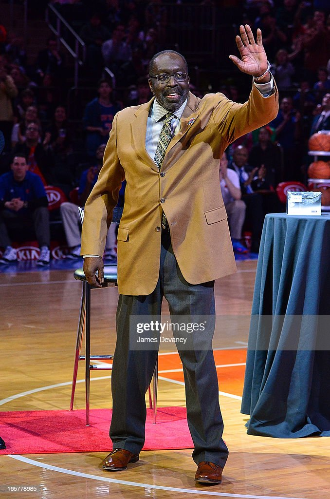 Vernon Earl Monroe attends the Milwaukee Bucks vs New York Knicks game at Madison Square Garden on April 5, 2013 in New York City.