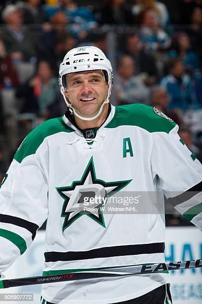 Vernon Fiddler of the Dallas Stars looks on during the game against the San Jose Sharks at SAP Center on January 16 2016 in San Jose California