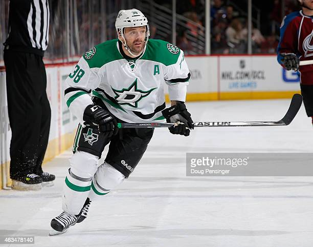 Vernon Fiddler of the Dallas Stars skates against the Colorado Avalanche at Pepsi Center on January 10 2015 in Denver Colorado The Avalanche defeated...