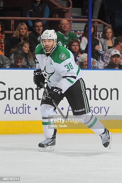 Vernon Fiddler of the Dallas Stars skates on the ice during the game against the Edmonton Oilers on December 21 2014 at Rexall Place in Edmonton...