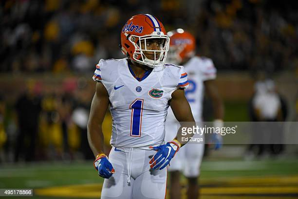Vernon Hargreaves III of the Florida Gators in action against the Missouri Tigers at Memorial Stadium on October 10 2015 in Columbia Missouri