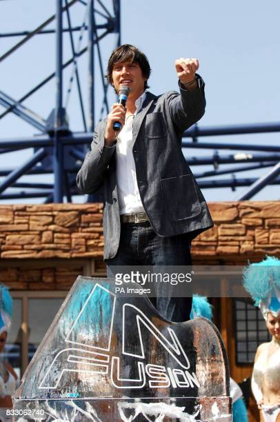 Vernon Kay launches the 'Infusion' rollercoaster the brand new addition to Blackpool's 'Pleasure Beach'