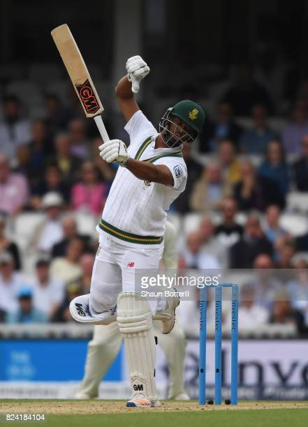 Vernon Philander of South Africa avoids the ball during day three of the 3rd Investec Test match between England and South Africa at at The Kia Oval...
