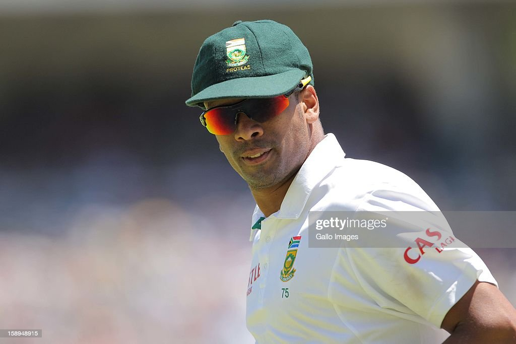 Vernon Philander of the Proteas during day 3 of the 1st Test between South Africa and New Zealand at Sahara Park Newlands on January 04, 2013 in Cape Town, South Africa.
