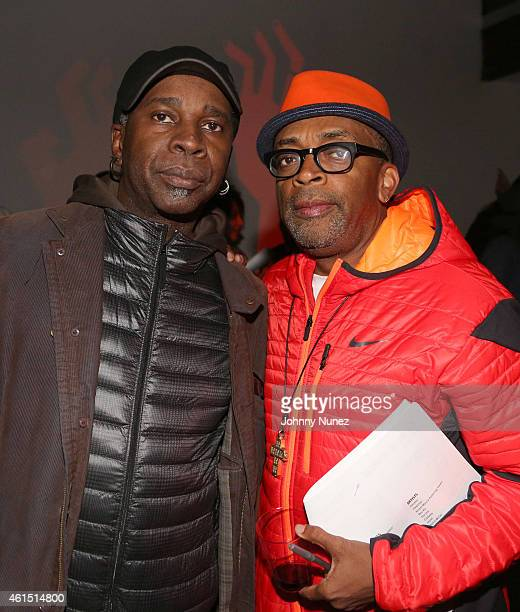 Vernon Reid and Spike Lee attend 'Da Sweet Blood Of Jesus' Soundtrack Listening Party Hosted By Spike Lee at Lightbox on January 13 2015 in New York...
