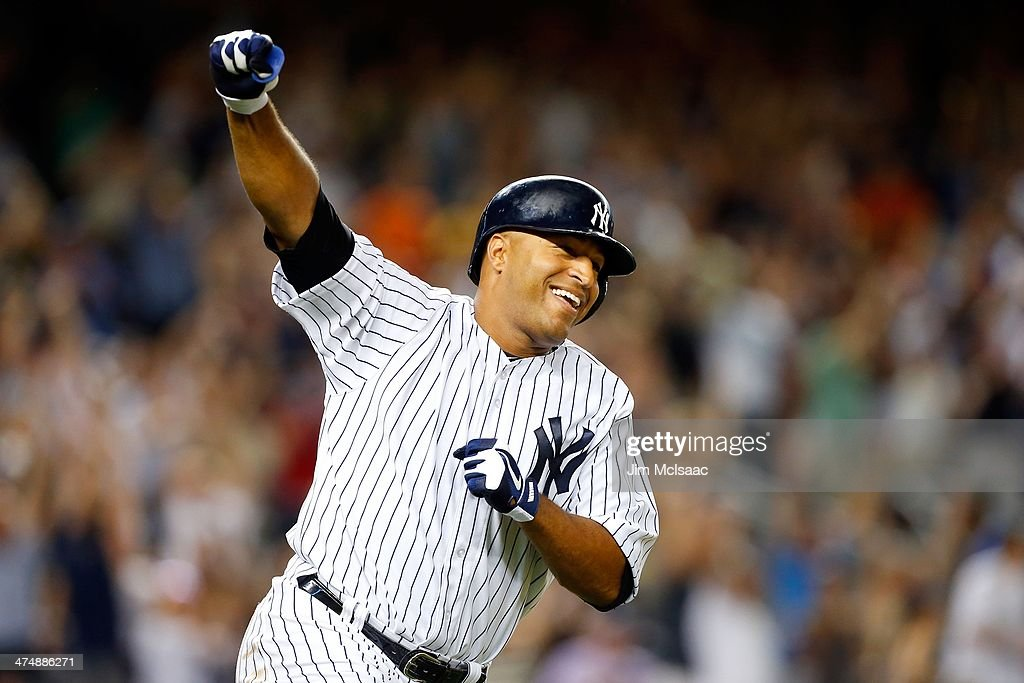 Vernon Wells of the New York Yankees in action against the Baltimore Orioles at Yankee Stadium on July 5 2013 in the Bronx borough of New York City...