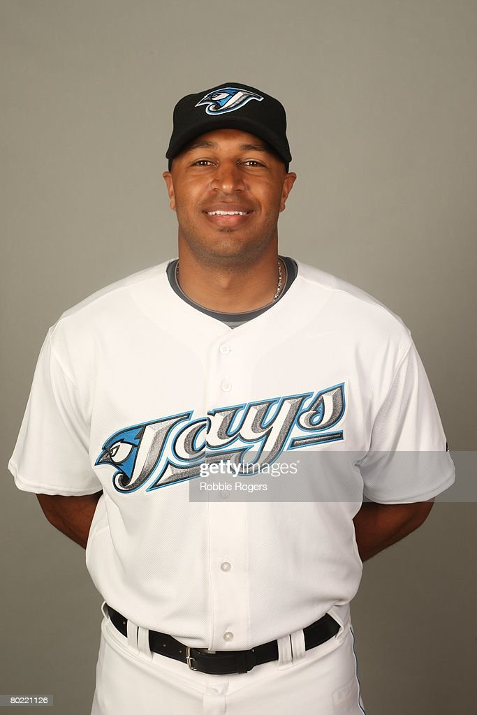 Vernon Wells of the Toronto Blue Jays poses for a portrait during photo day at Knology Park on February 22 2008 in Dunedin Florida